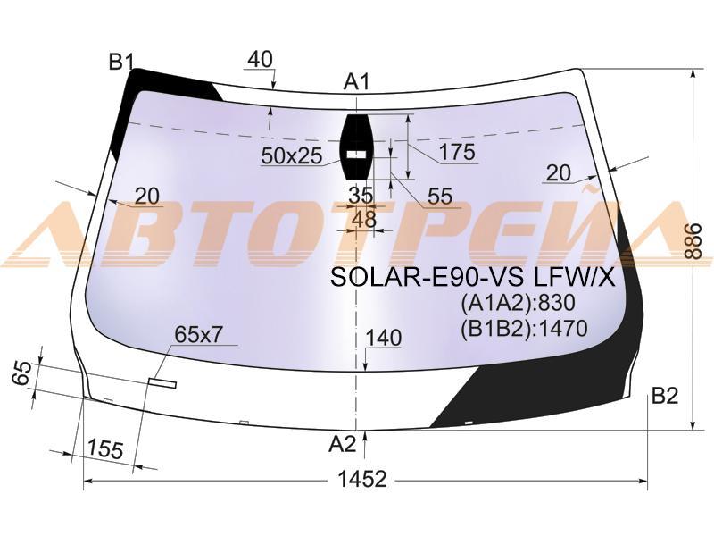 Лобовое стекло BMW 3 E90, боковое стекло BMW 3 E90, заднее автостекло BMW 3 E90