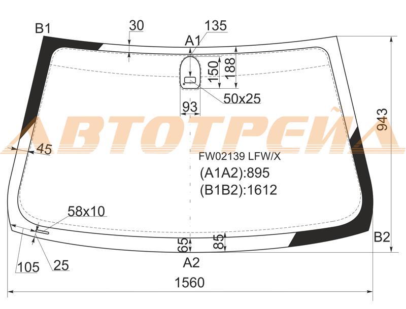 Лобовое стекло BMW X5 E53, боковое стекло BMW X5 E53, заднее автостекло BMW X5 E53