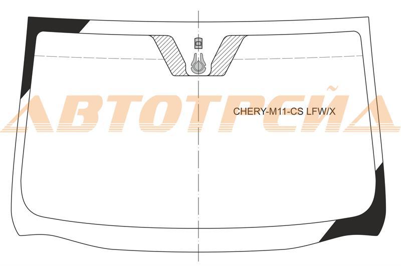 Лобовое стекло Chery M11 2008-, боковое стекло Chery M11 2008-, заднее автостекло Chery M11 2008-