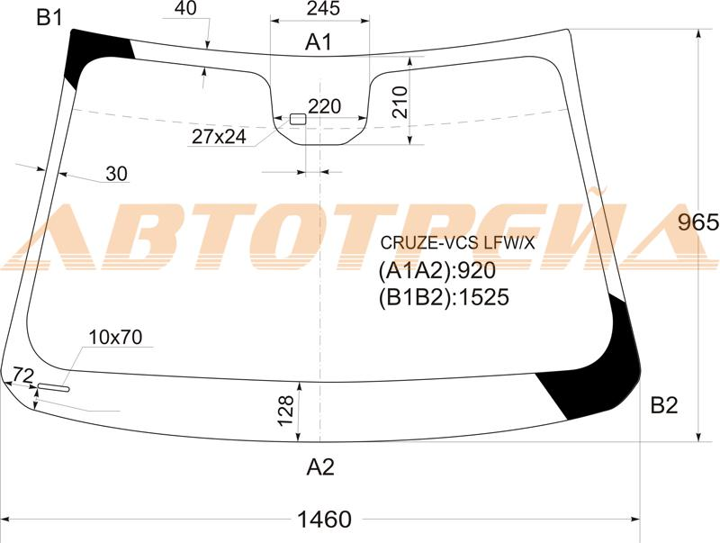 Продажа и замена автостекол Chevrolet Cruze J300. Лобовое, боковое, заднее автостекло Chevrolet Cruze J300