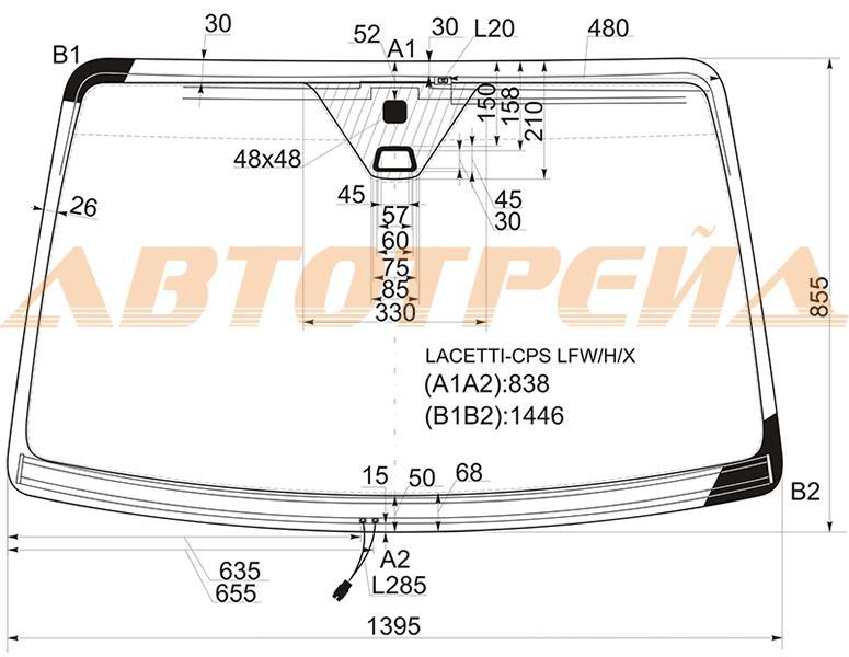 Лобовое стекло Chevrolet Lacetti