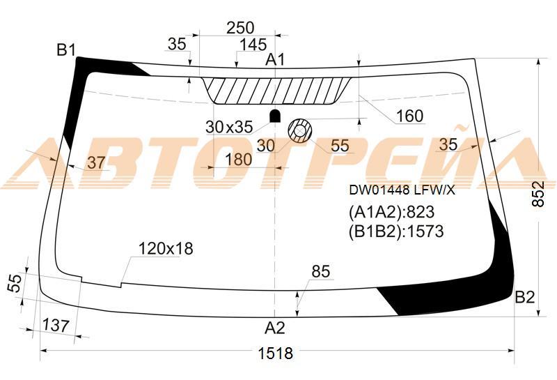 Лобовое стекло Chevrolet Trailblazer