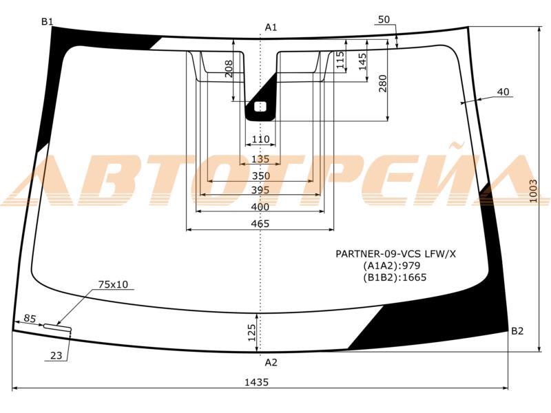 Продажа и замена автостекол Citroen Berlingo 3. Лобовое, боковое, заднее автостекло Citroen Berlingo 3