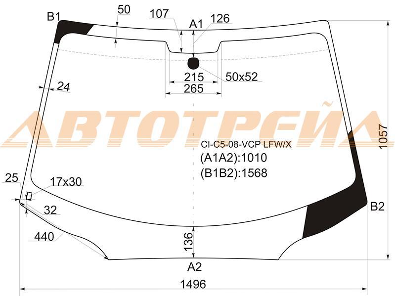 Лобовое стекло Citroen C5 II