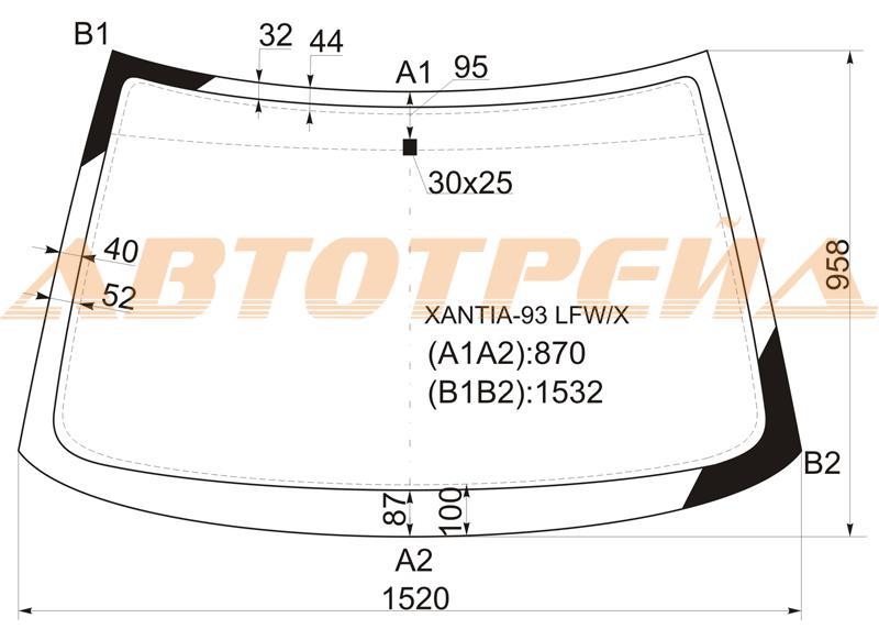 Продажа и замена автостекол Citroen Citroen Xantia. Лобовое, боковое, заднее автостекло Citroen Citroen Xantia