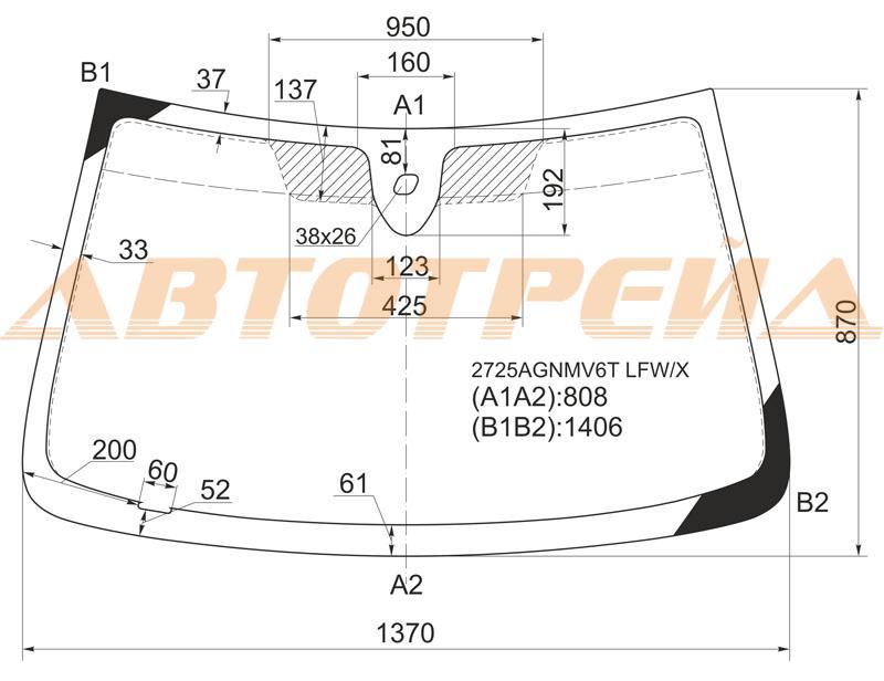 Продажа и замена автостекол Citroen Xsara. Лобовое, боковое, заднее автостекло Citroen Xsara