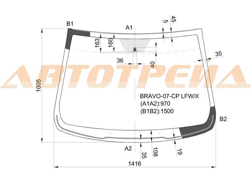 Продажа и замена автостекол Fiat Bravo. Лобовое, боковое, заднее автостекло Fiat Bravo
