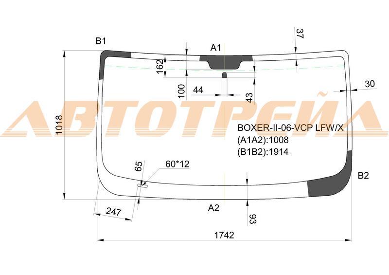 Продажа и замена автостекол Fiat Ducato III. Лобовое, боковое, заднее автостекло Fiat Ducato III