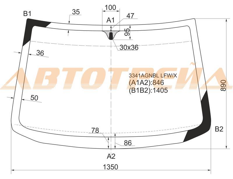 Продажа и замена автостекол Fiat Punto 1. Лобовое, боковое, заднее автостекло Fiat Punto 1