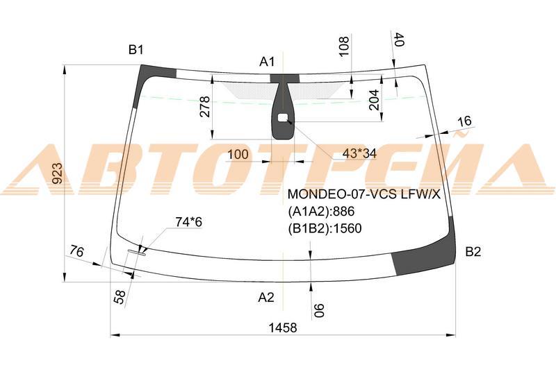 Продажа и замена автостекол Ford Mondeo IV. Лобовое, боковое, заднее автостекло Ford Mondeo IV