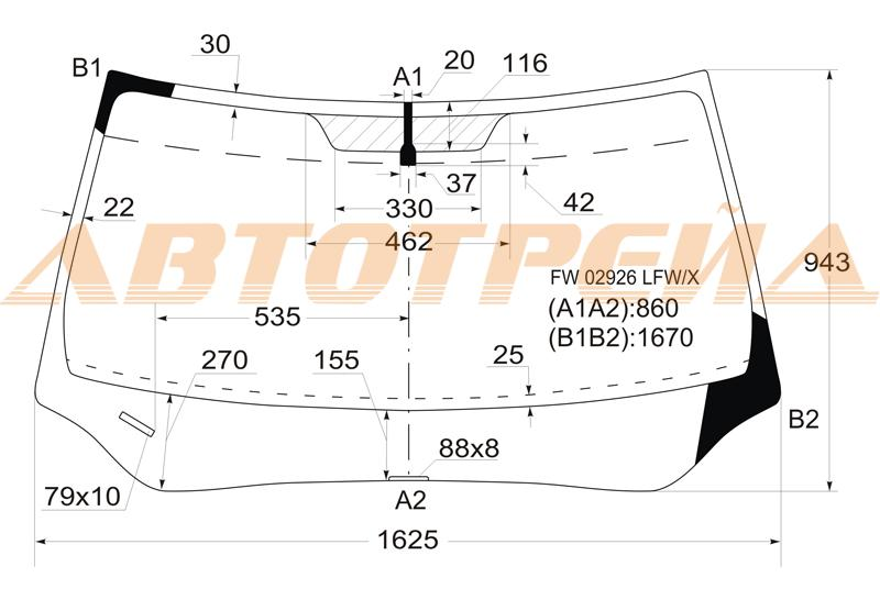 Продажа и замена автостекол Honda Pilot II. Лобовое, боковое, заднее автостекло Honda Pilot II