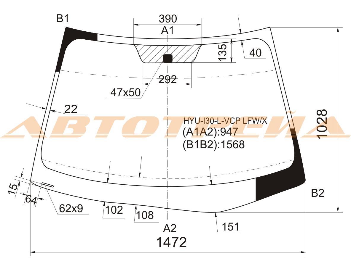 Продажа и замена автостекол Hyundai i30. Лобовое, боковое, заднее автостекло Hyundai i30