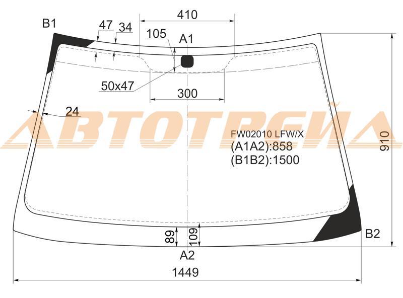 Продажа и замена автостекол Hyundai Elantra II. Лобовое, боковое, заднее автостекло Hyundai Elantra II