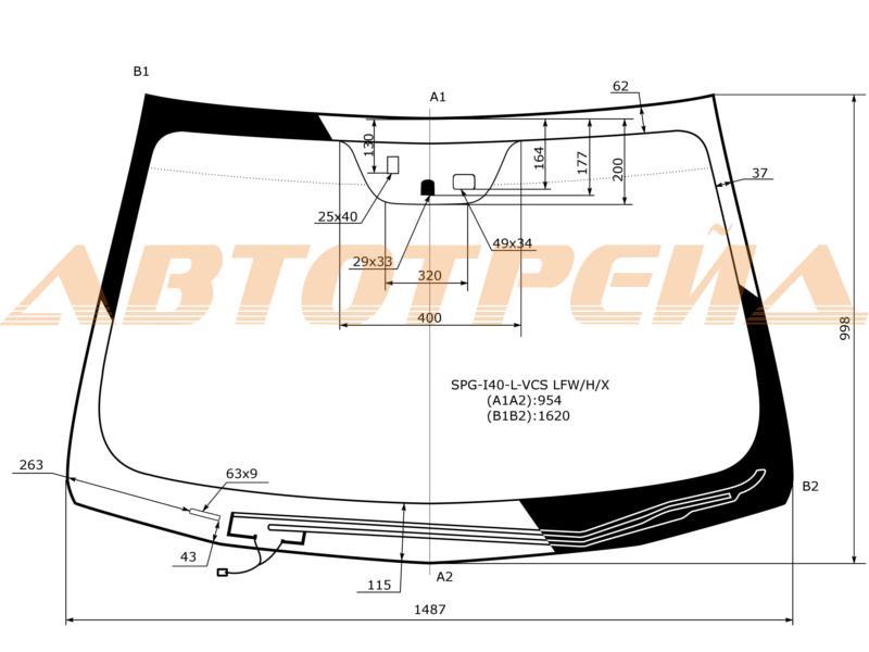 Продажа и замена автостекол Hyundai i40. Лобовое, боковое, заднее автостекло Hyundai i40