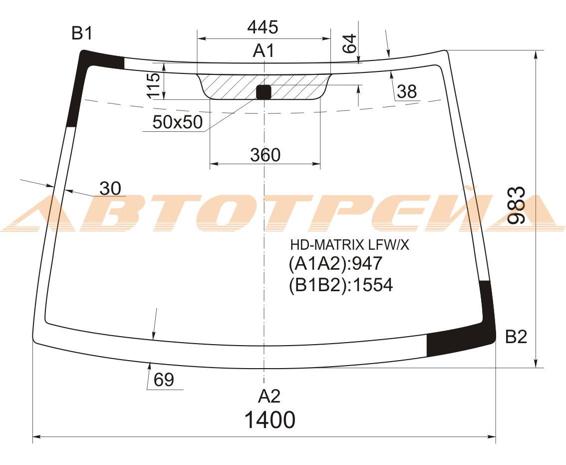 Продажа и замена автостекол Hyundai Matrix. Лобовое, боковое, заднее автостекло Hyundai Matrix