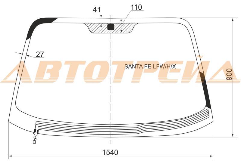 Продажа и замена автостекол Hyundai Santa Fe 1. Лобовое, боковое, заднее автостекло Hyundai Santa Fe 1