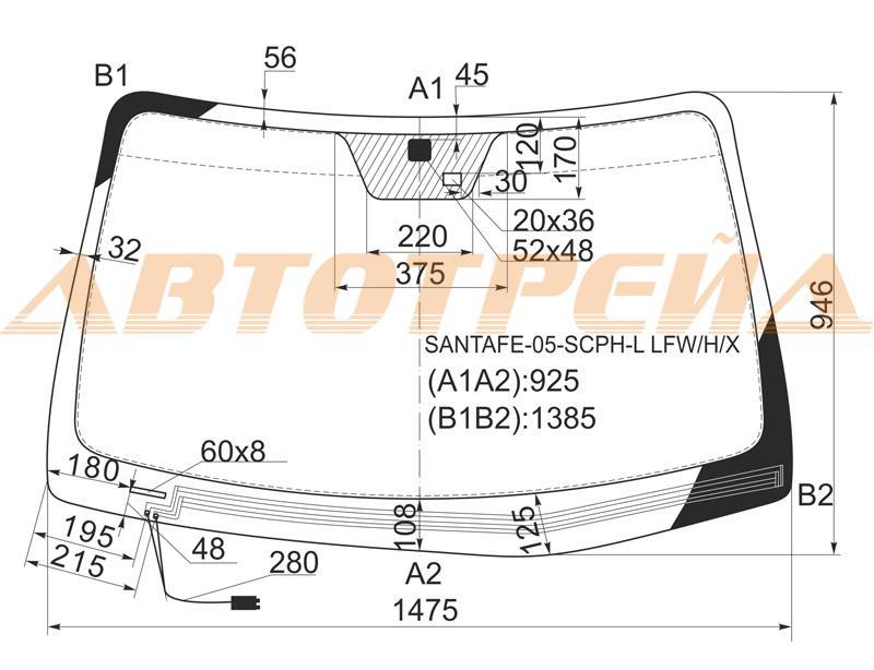 Продажа и замена автостекол Hyundai Santa Fe 2. Лобовое, боковое, заднее автостекло Hyundai Santa Fe 2