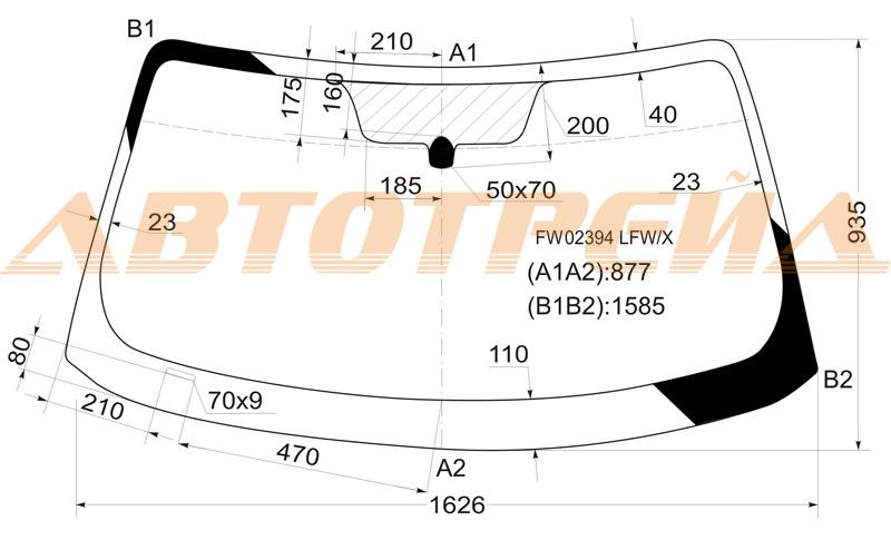 Продажа и замена автостекол Infiniti FX35. Лобовое, боковое, заднее автостекло Infiniti FX35