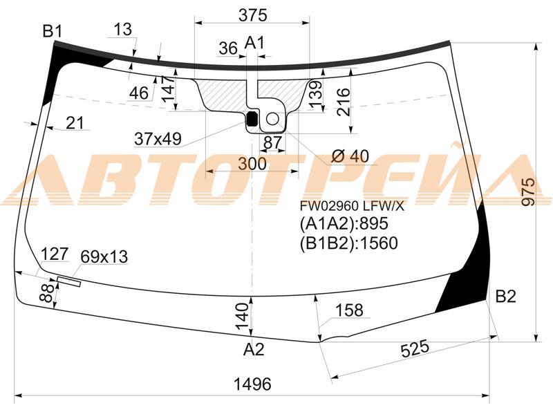 Продажа и замена автостекол Infiniti M35. Лобовое, боковое, заднее автостекло Infiniti M35