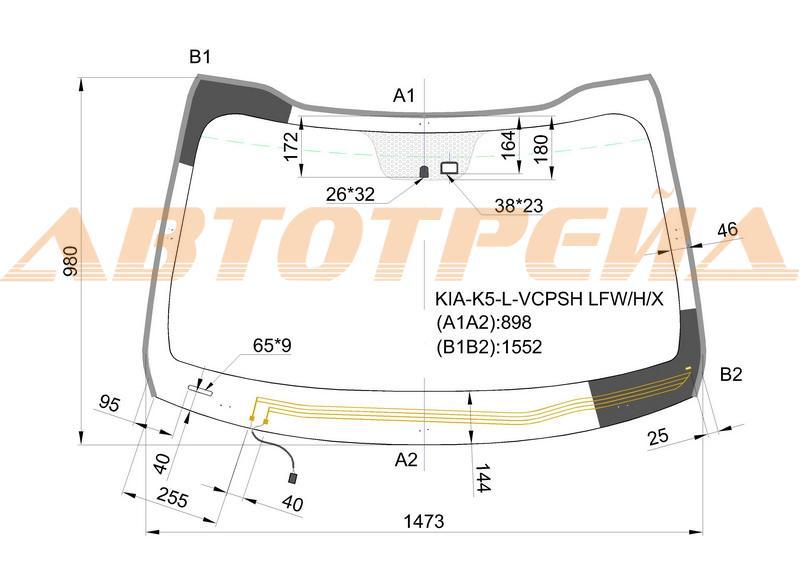 Продажа и замена автостекол Kia Optima 2010. Лобовое, боковое, заднее автостекло Kia Optima 2010