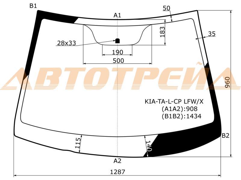 Продажа и замена автостекол Kia Picanto II. Лобовое, боковое, заднее автостекло Kia Picanto II