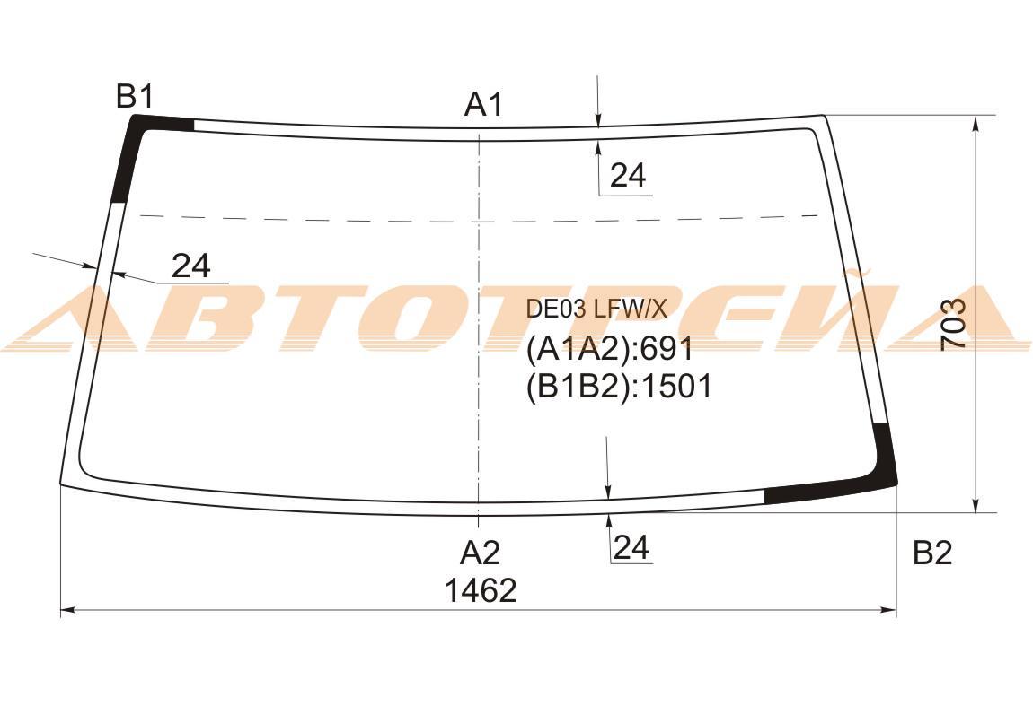 Продажа и замена автостекол Hyundai Porter H100. Лобовое, боковое, заднее автостекло Hyundai Porter H100