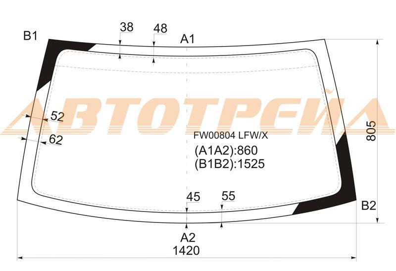 Продажа и замена автостекол Kia Sportage I. Лобовое, боковое, заднее автостекло Kia Sportage I