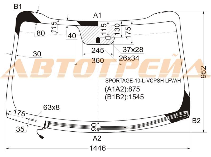 Продажа и замена автостекол Kia Sportage III. Лобовое, боковое, заднее автостекло Kia Sportage III