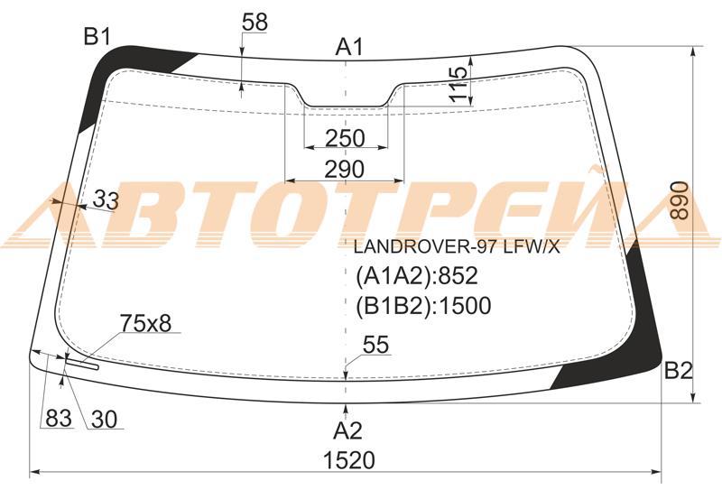 Продажа и замена автостекол Land Rover Freelander I. Лобовое, боковое, заднее автостекло Land Rover Freelander I