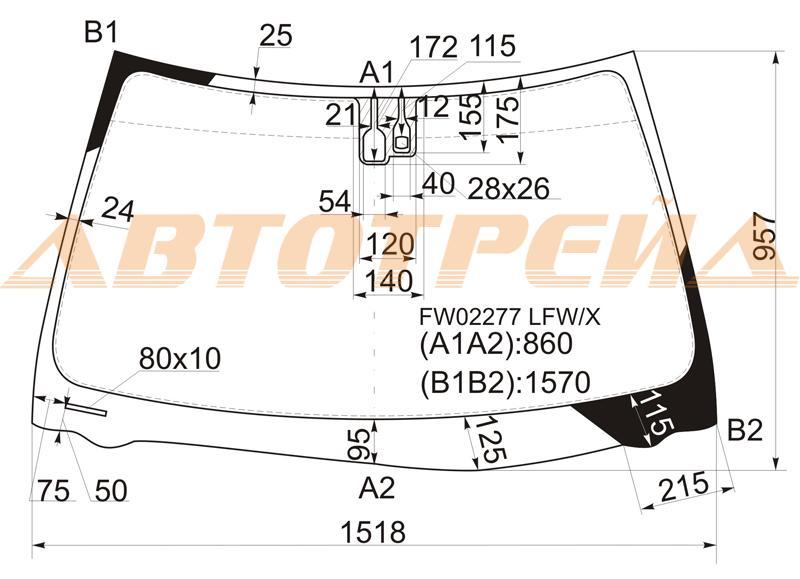 Продажа и замена автостекол Lexus ES300 2002. Лобовое, боковое, заднее автостекло Lexus ES300 2002