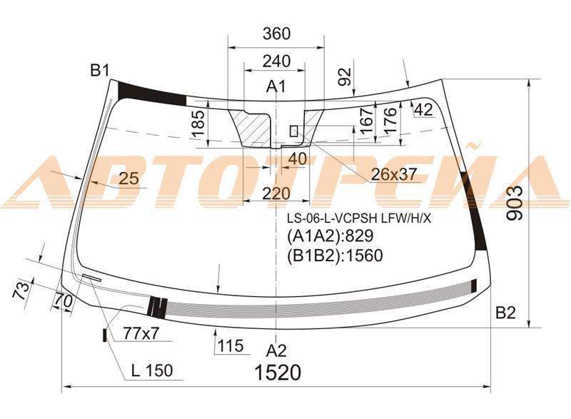 Продажа и замена автостекол Lexus LS460. Лобовое, боковое, заднее автостекло Lexus LS460