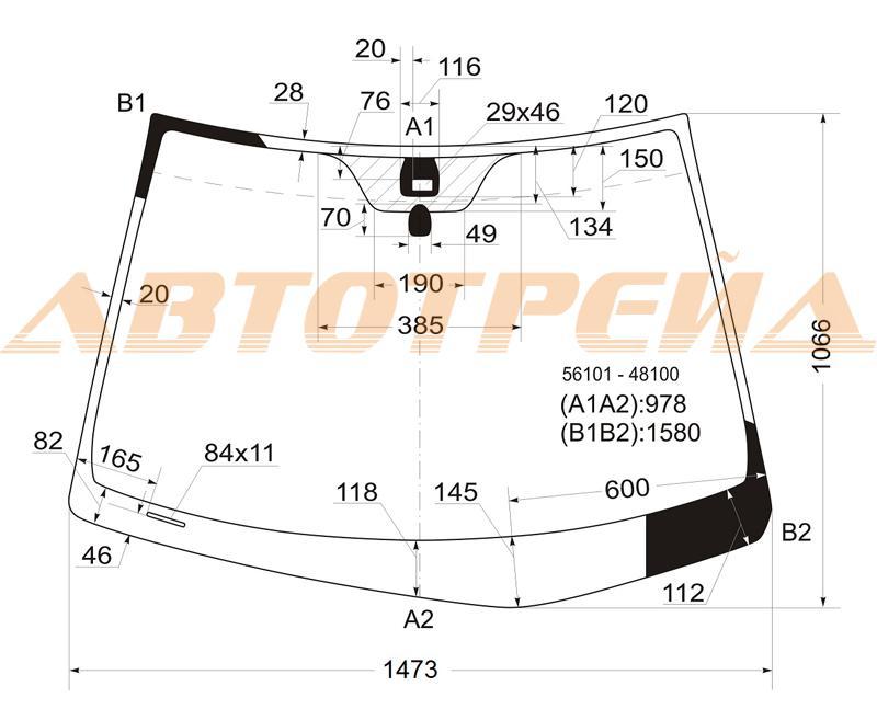 Продажа и замена автостекол Lexus RX 300 II. Лобовое, боковое, заднее автостекло Lexus RX 300 II