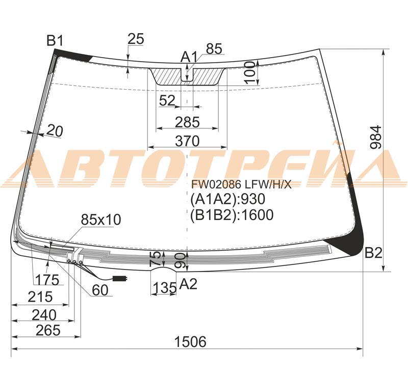 Продажа и замена автостекол Lexus X300 I. Лобовое, боковое, заднее автостекло Lexus X300 I