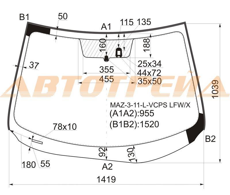 Продажа и замена автостекол Mazda 3 II. Лобовое, боковое, заднее автостекло Mazda 3 II