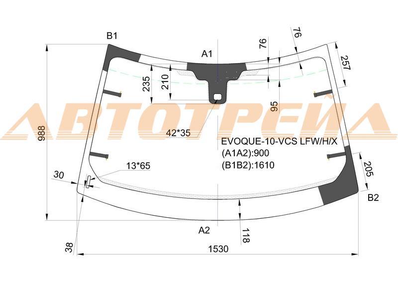 Продажа и замена автостекол Range Rover Evoque 2011. Лобовое, боковое, заднее автостекло Range Rover Evoque 2011