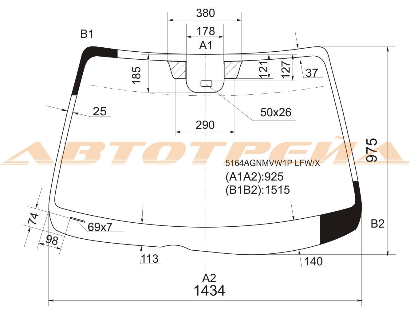 Продажа и замена автостекол Mazda 6 I. Лобовое, боковое, заднее автостекло Mazda 6 I