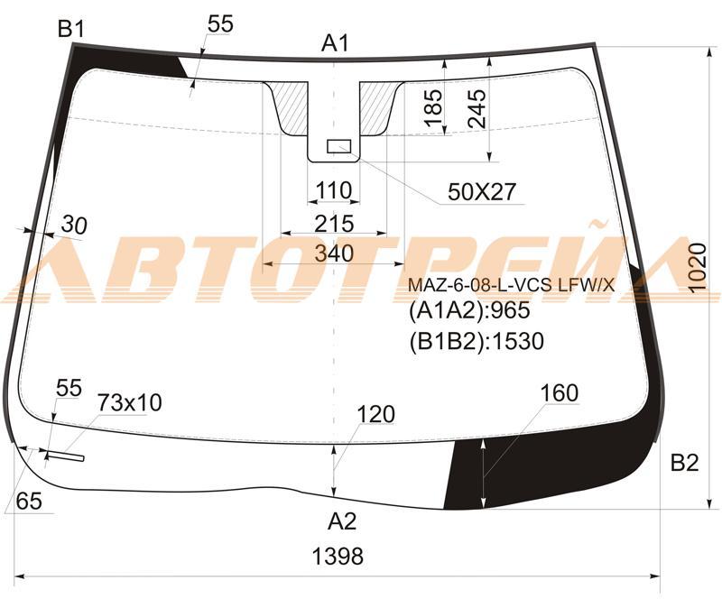 Продажа и замена автостекол Mazda 6 II. Лобовое, боковое, заднее автостекло Mazda 6 II