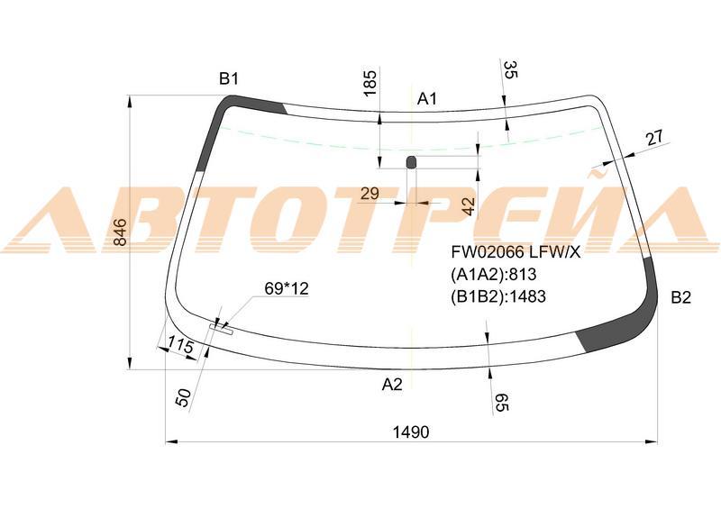 Продажа и замена автостекол Mazda 626. Лобовое, боковое, заднее автостекло Mazda 626
