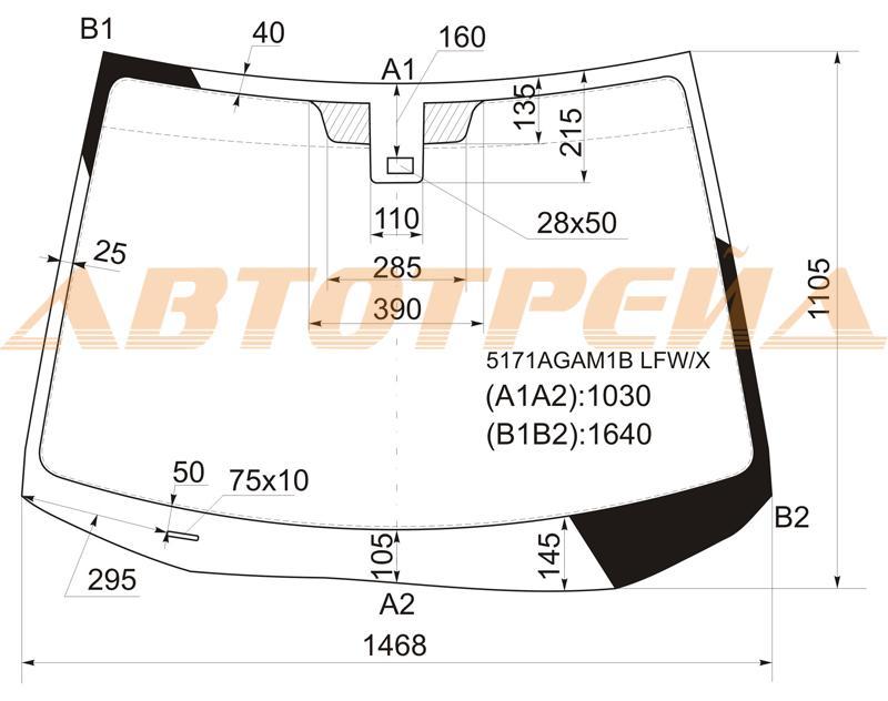 Продажа и замена автостекол Mazda CX-7. Лобовое, боковое, заднее автостекло Mazda CX-7