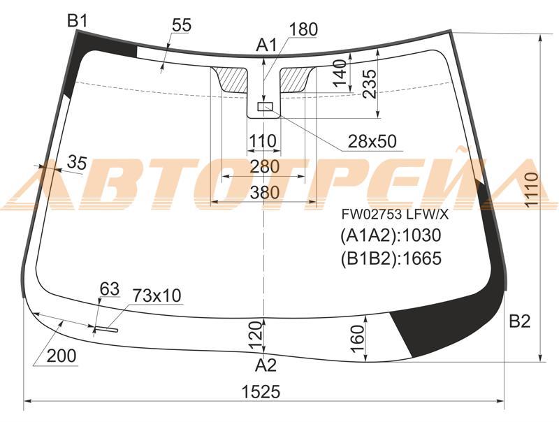 Продажа и замена автостекол Mazda CX-9. Лобовое, боковое, заднее автостекло Mazda CX-9