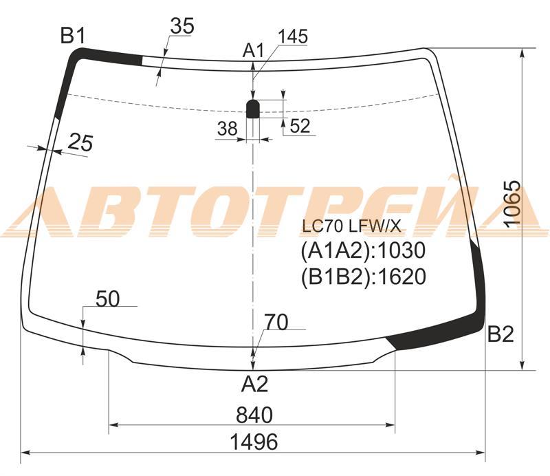 Продажа и замена автостекол Mazda MPV II. Лобовое, боковое, заднее автостекло Mazda MPV II