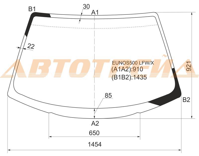 Продажа и замена автостекол Mazda Xedos 6. Лобовое, боковое, заднее автостекло Mazda Xedos 6
