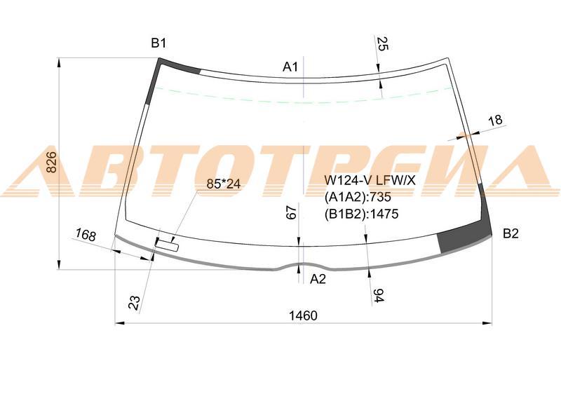 Продажа и замена автостекол Mercedes 124. Лобовое, боковое, заднее автостекло Mercedes 124