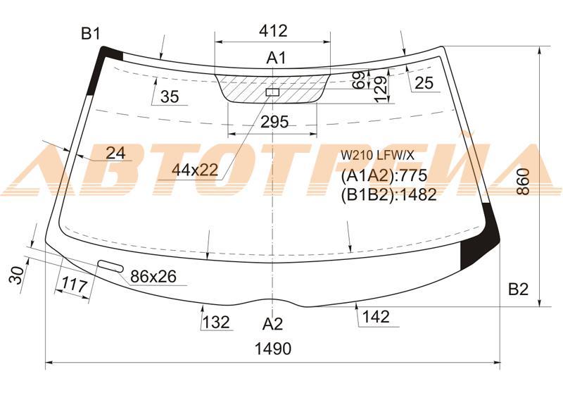 Продажа и замена автостекол Mercedes 210. Лобовое, боковое, заднее автостекло Mercedes 210