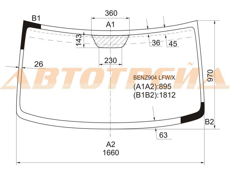 Продажа и замена автостекол Mercedes Sprinter. Лобовое, боковое, заднее автостекло Mercedes Sprinter