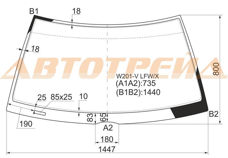 Продажа и замена автостекол Mercedes W190. Лобовое, боковое, заднее автостекло Mercedes W190