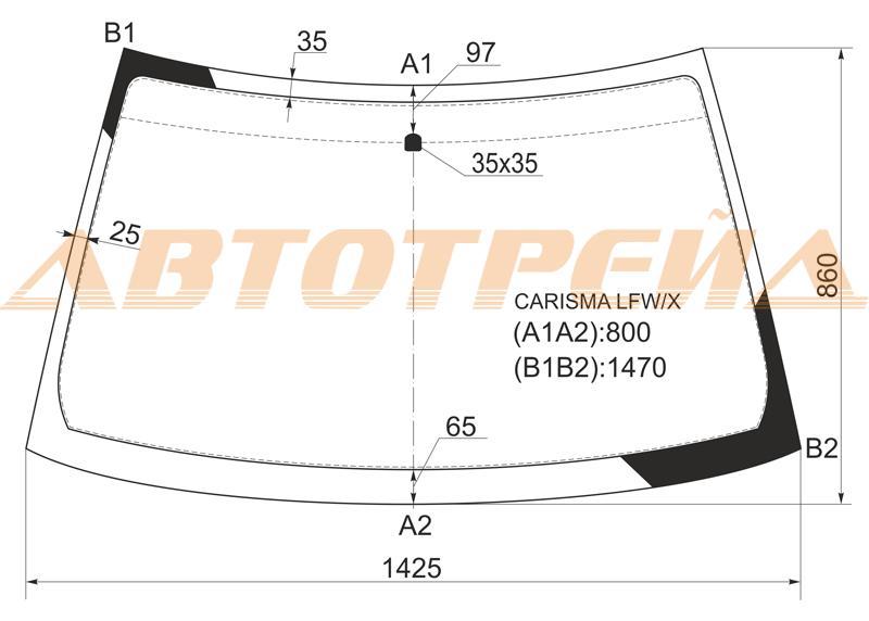 Продажа и замена автостекол Mitsubishi Carisma. Лобовое, боковое, заднее автостекло Mitsubishi Carisma
