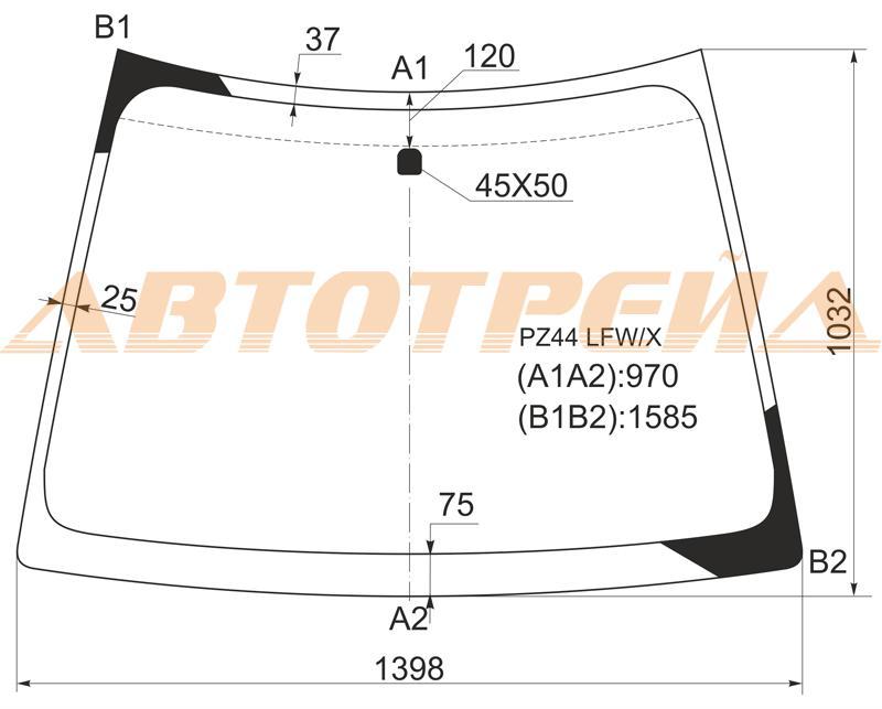 Продажа и замена автостекол Mitsubishi Colt 2002. Лобовое, боковое, заднее автостекло Mitsubishi Colt 2002