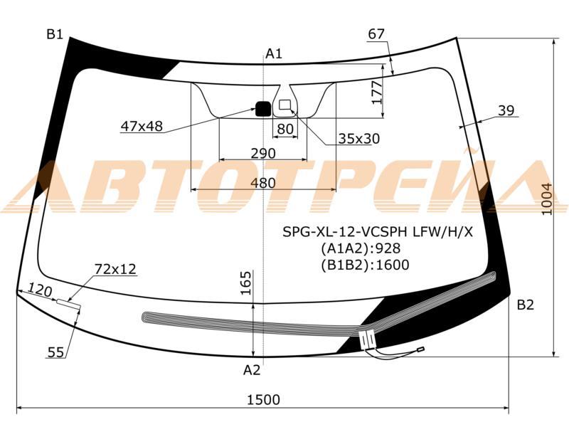 Продажа и замена автостекол Mitsubishi Outlander 2012. Лобовое, боковое, заднее автостекло Mitsubishi Outlander 2012