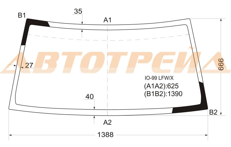 Продажа и замена автостекол Mitsubishi Pajero IO 1998. Лобовое, боковое, заднее автостекло Mitsubishi Pajero IO 1998